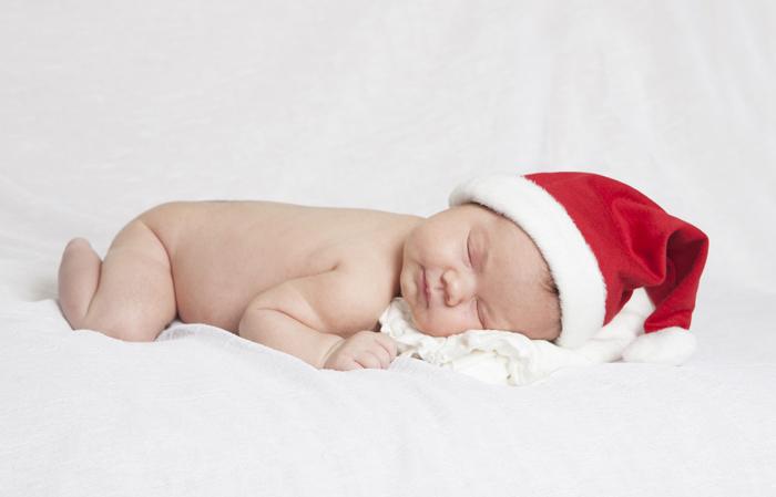 Babyfoto julekort