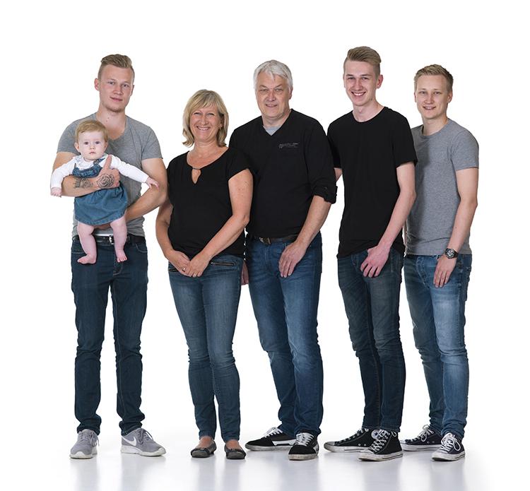 Vibeke med sin familie