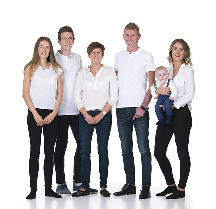 Linda med sin familie