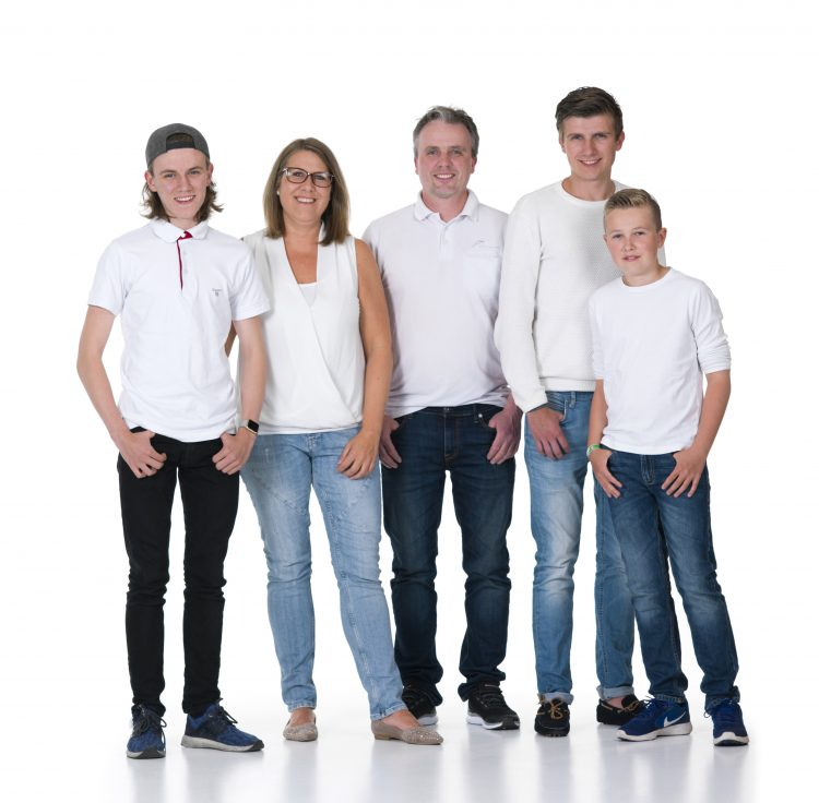 Mette med sin familie