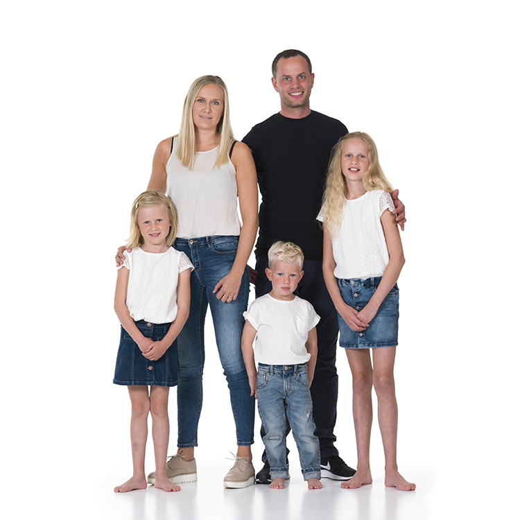 Therese med sin familie